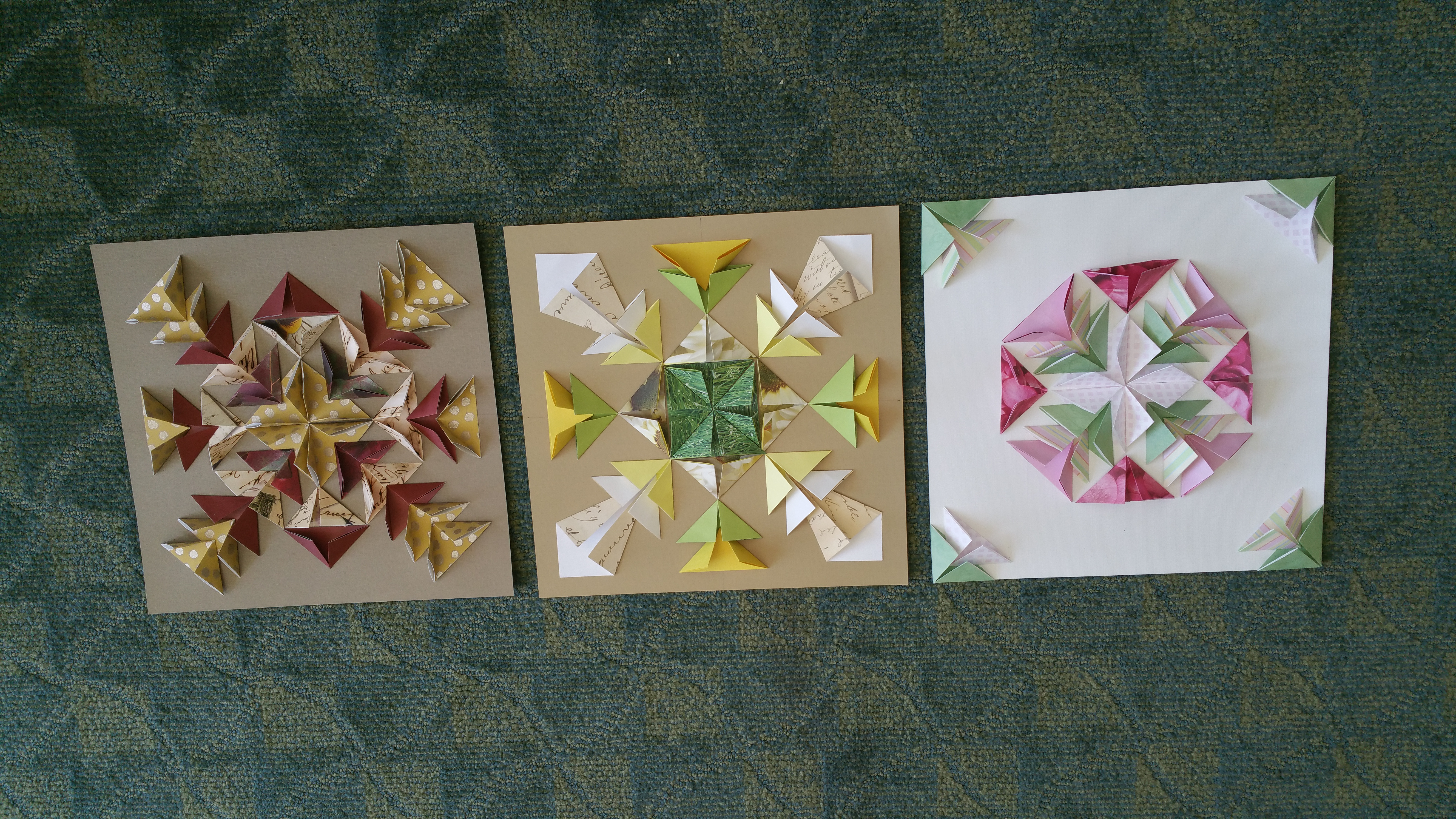 3-D Paper Folded Collage for Adults