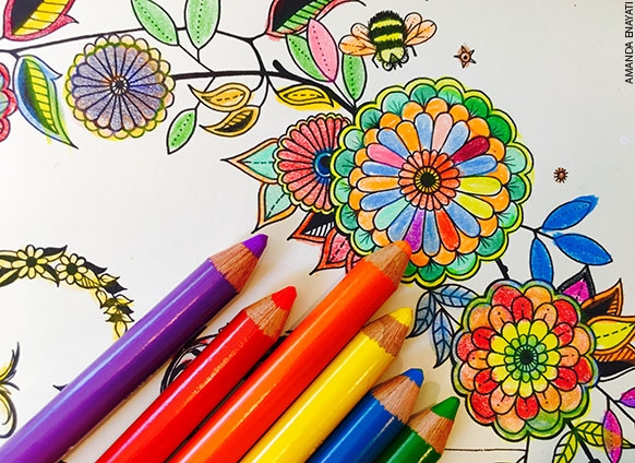Color Your Stress Away: Drop-in coloring for adults