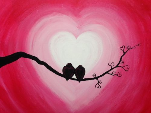 Adult Paint Night:Theme--LOVEBIRDS