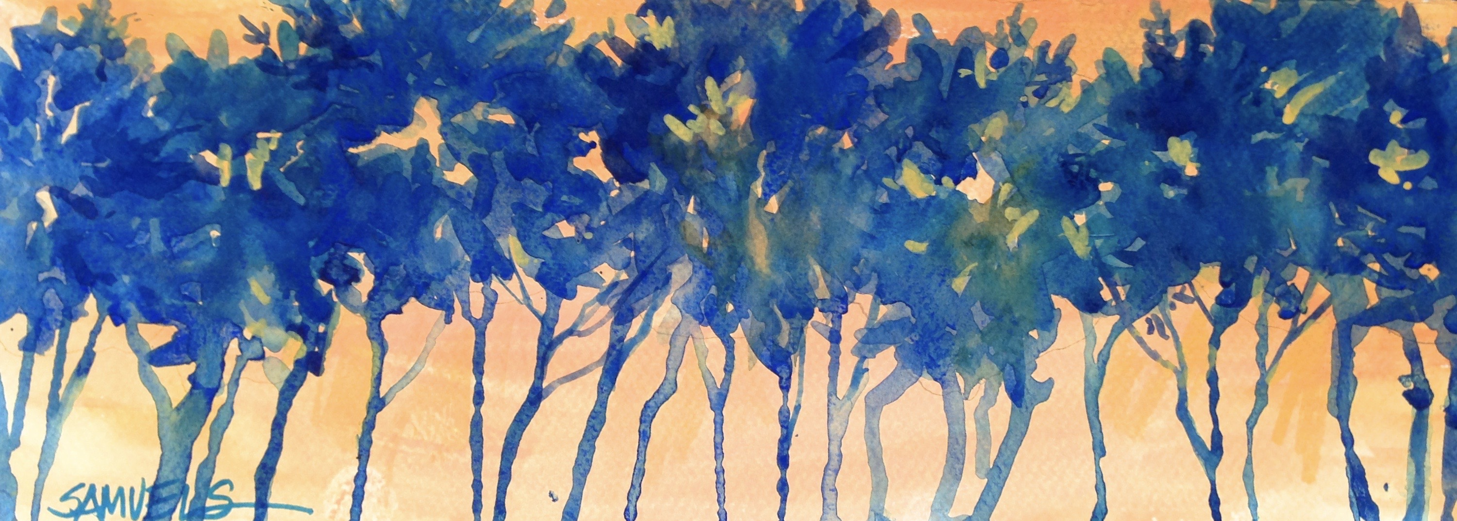 Adult Paint Night- Theme: Drippy, Drippy Trees using watercolors