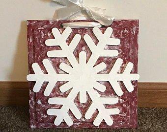 Make Birch Bark Snowflake Plaques
