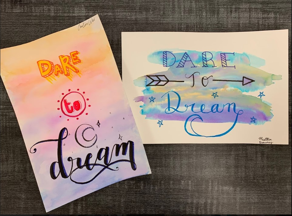 Watercolor Word Art
