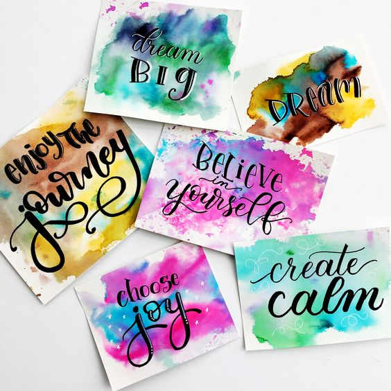 Pinterest Inspired Adult Crafting: Watercolor Word Art