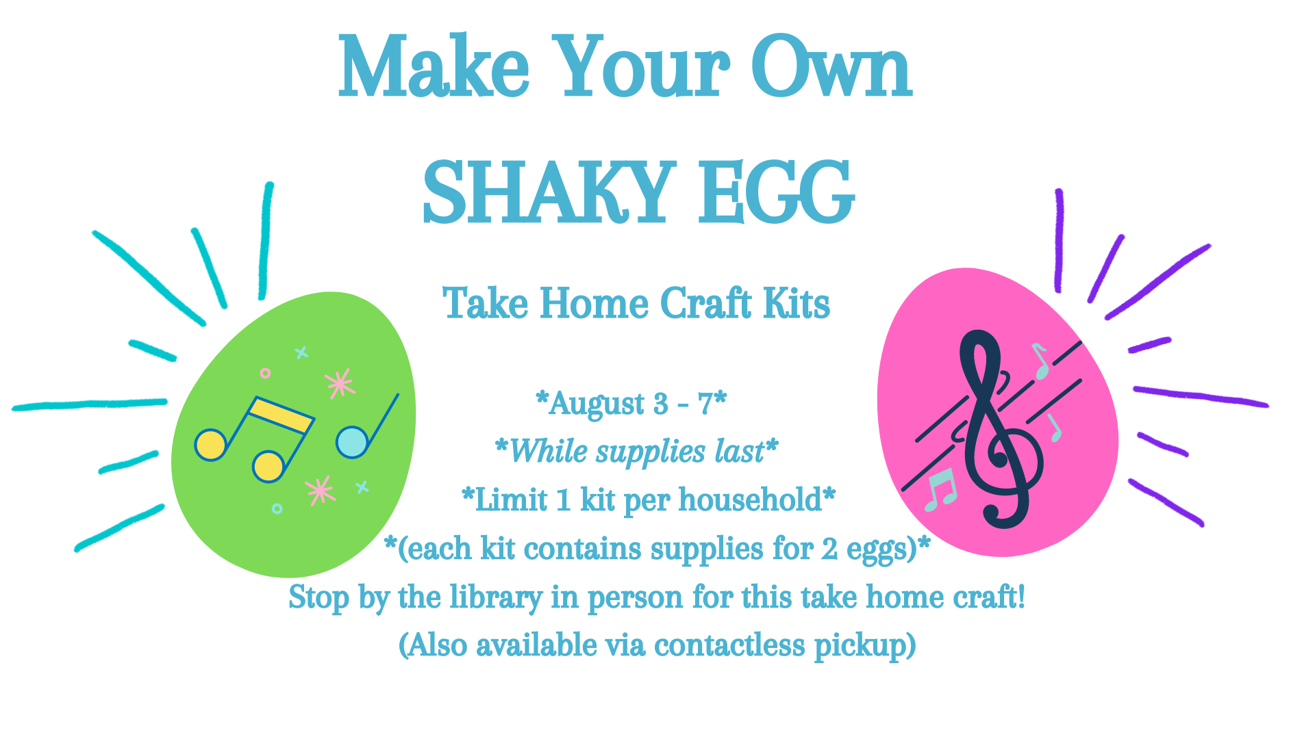 Take Home Children's Craft: Shaky Eggs