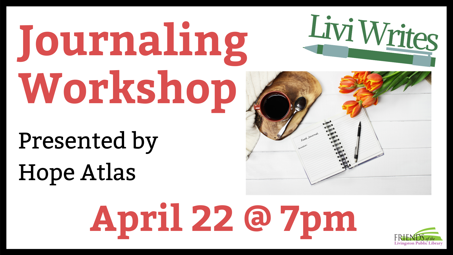 VIRTUAL Livi Writes: Journaling Workshop