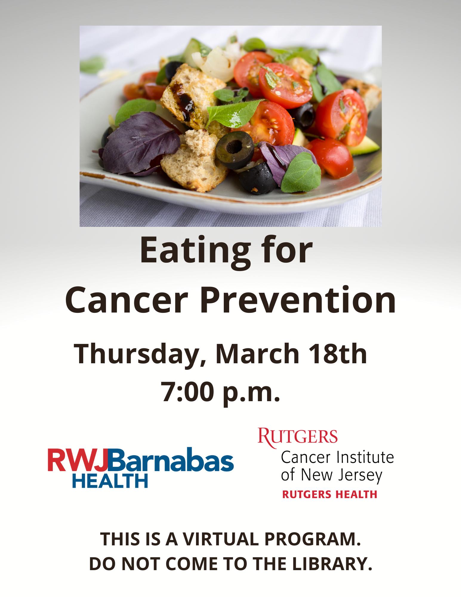 Eating for Cancer Prevention