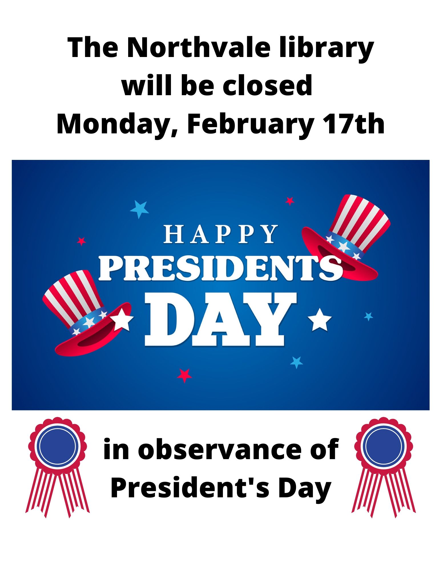 Library Closed - President's Day