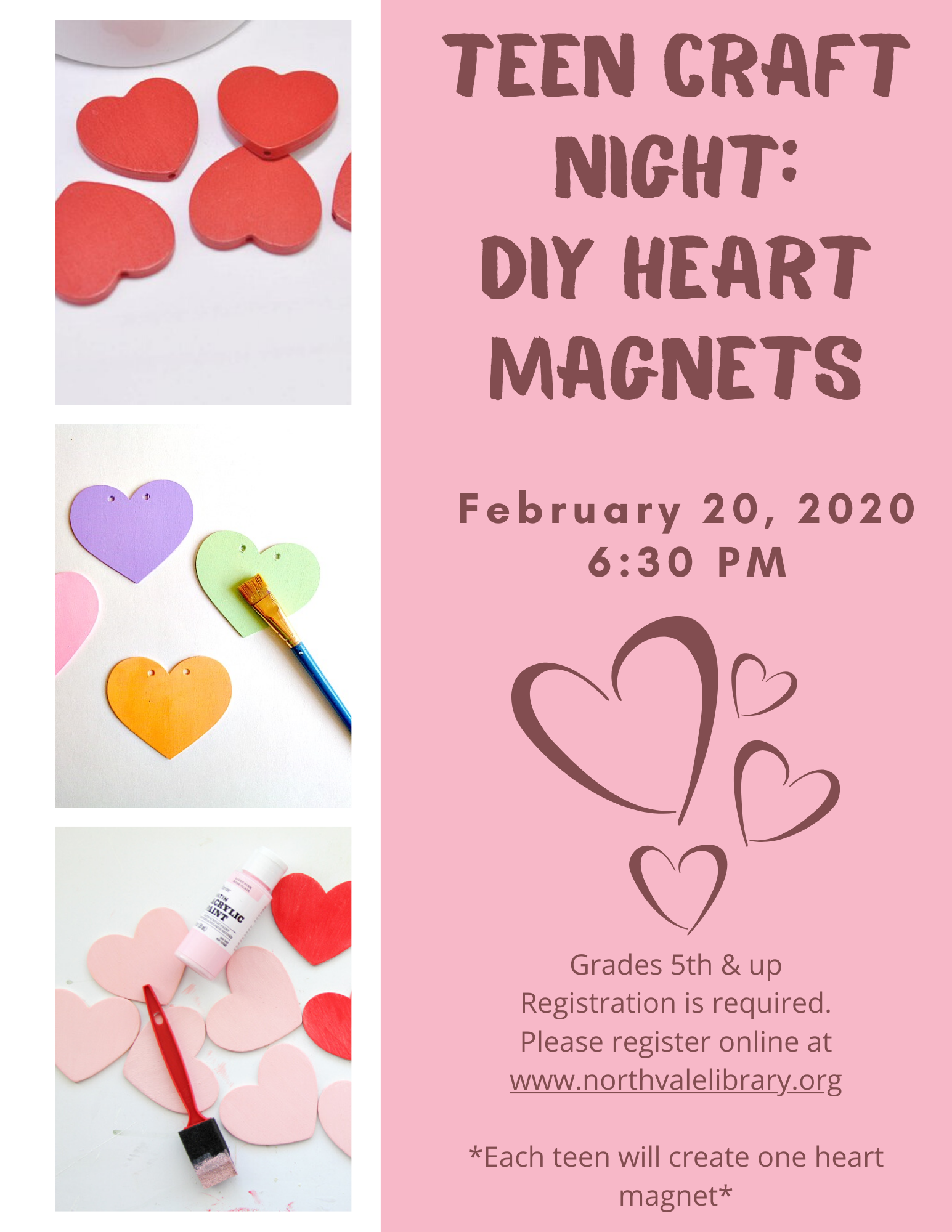 Teen Craft Night: DIY Heart Magnets