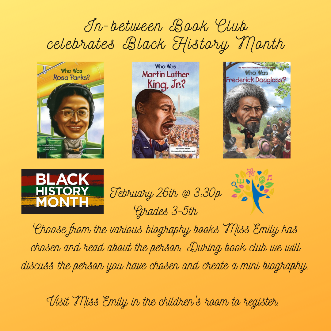 In-between Book Club celebrates Black History Month