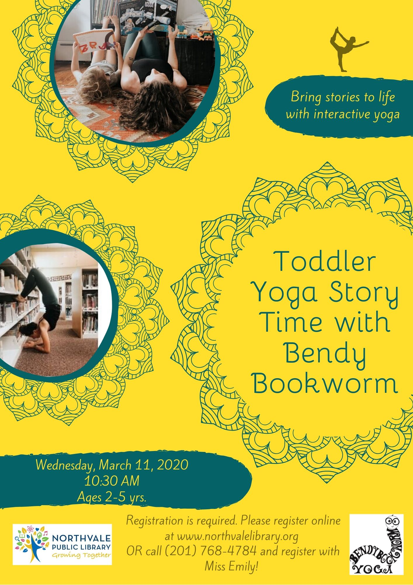 Toddler Yoga Story Time with Bendy Bookworm