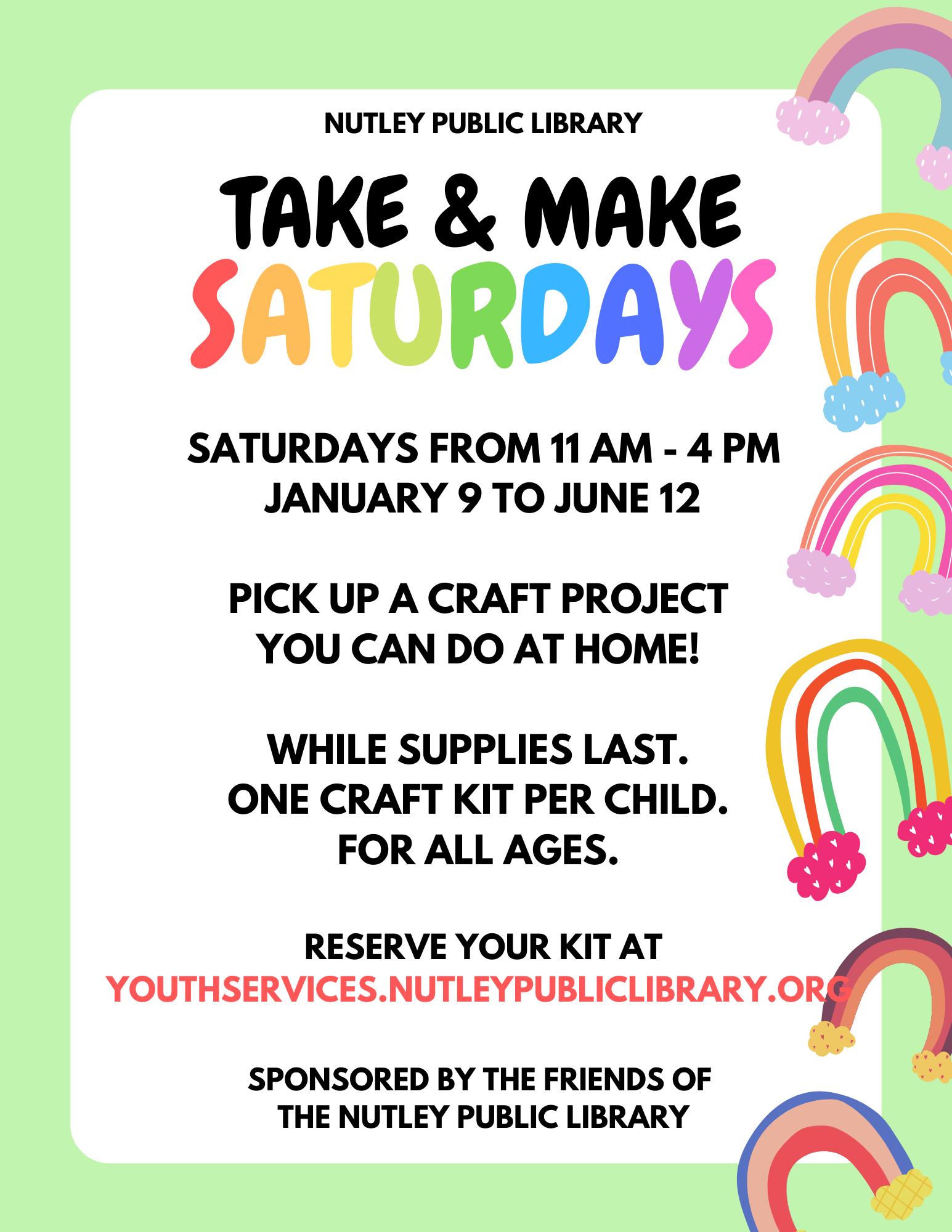 Take & Make Saturday Craft