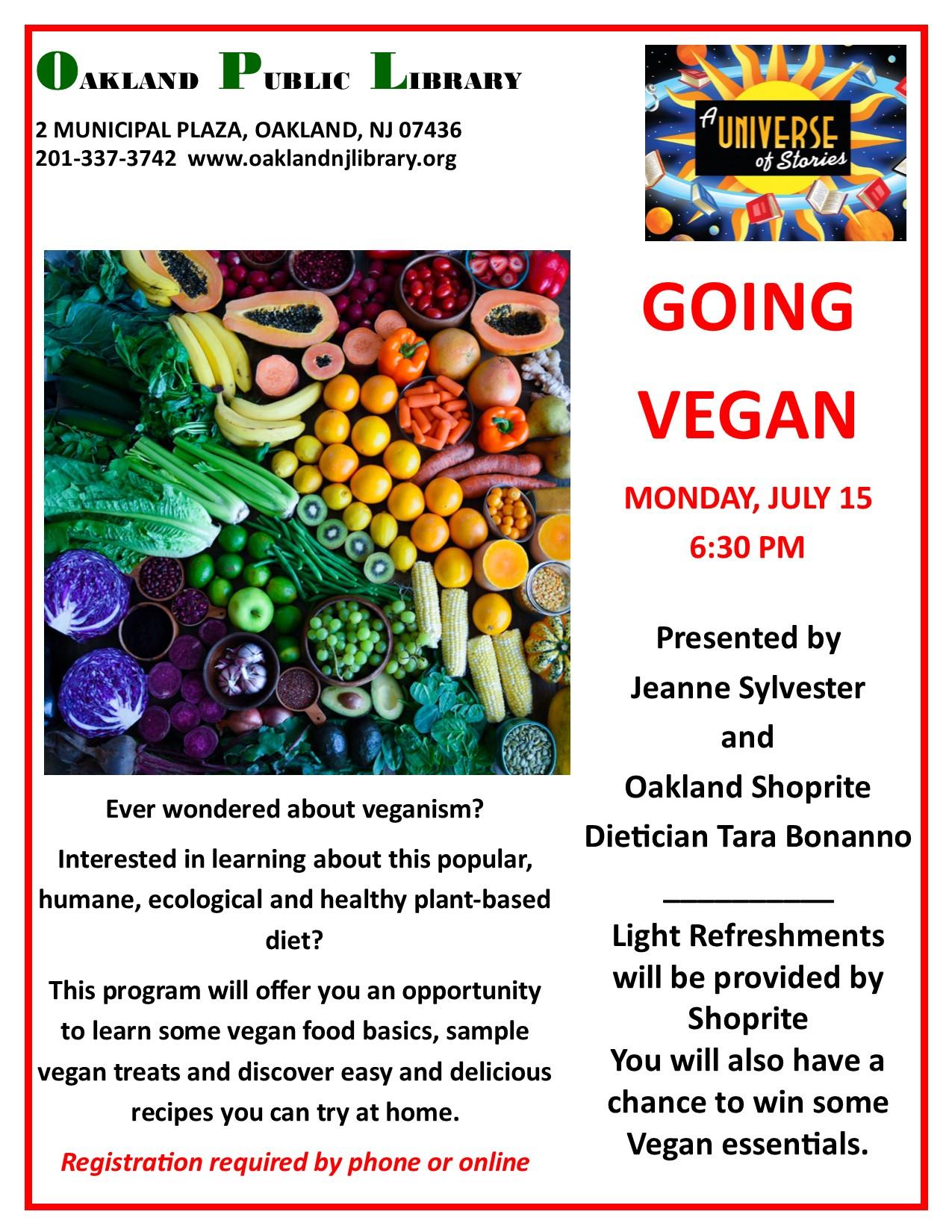 Going Vegan!