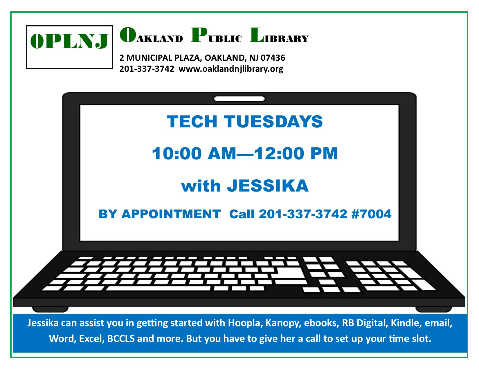 Tech Tuesdays 10 - 12 with Jessika