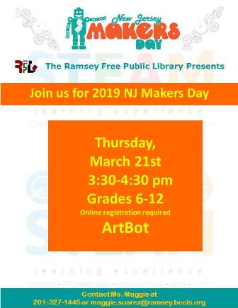 NJ Makers Day Teen Event