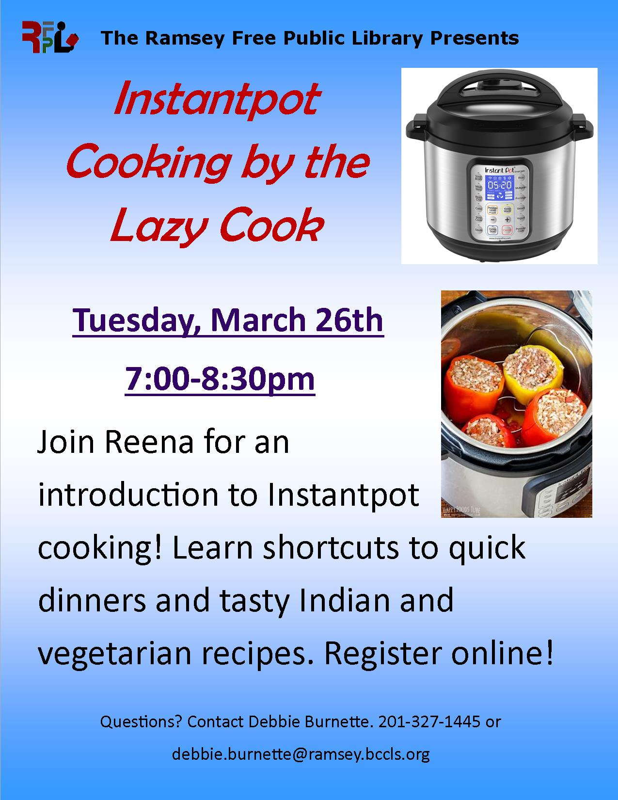 Instant Pot Cooking by the Lazy Cook