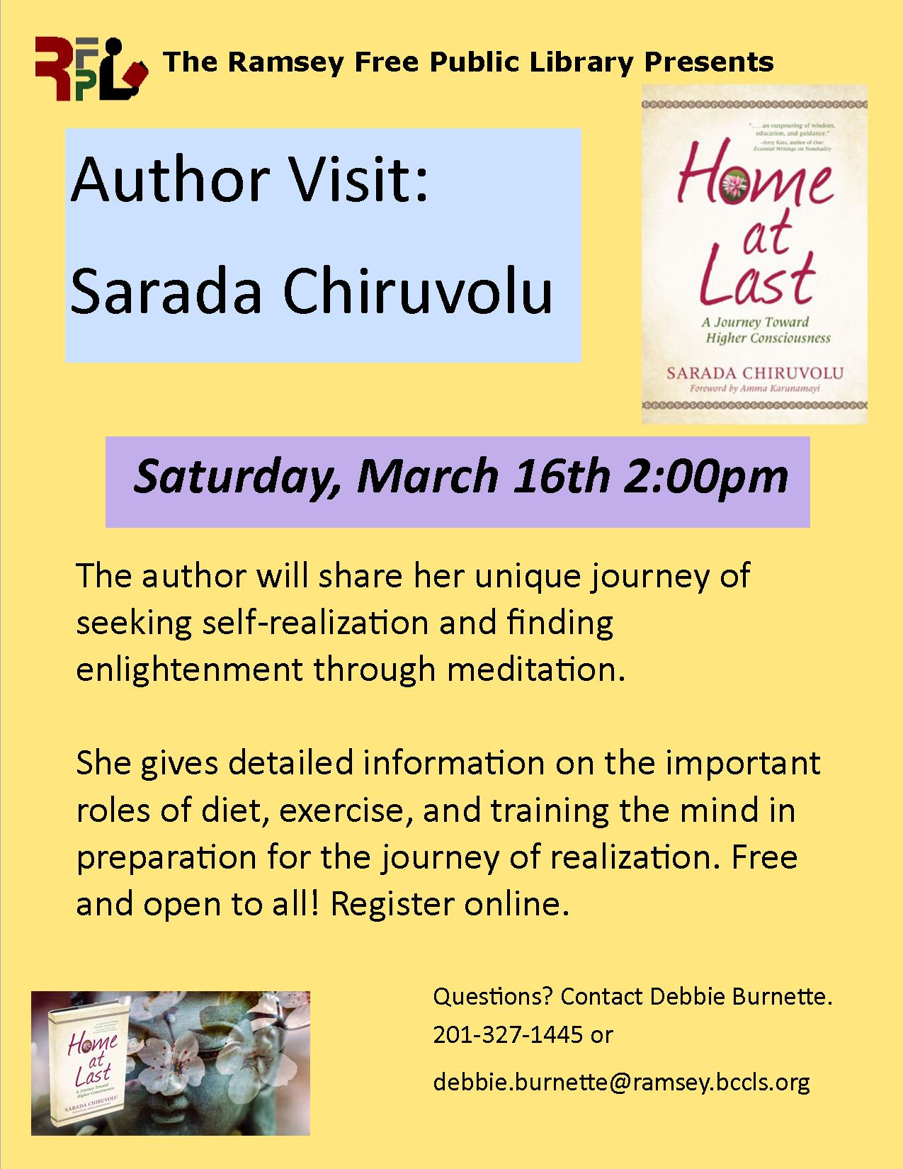 Author Visit: Sarada Chiruvolu