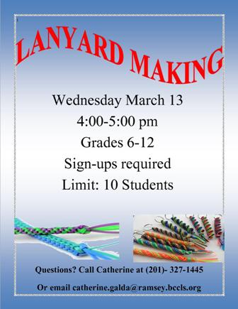 Teen Craft Lanyard Making