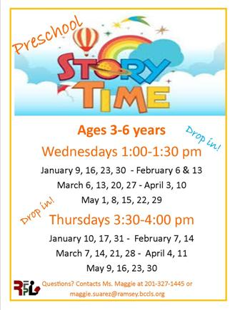 Wednesday Preschool Storytimes