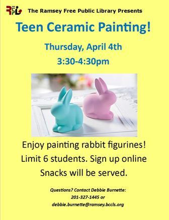 Teen Ceramics Painting