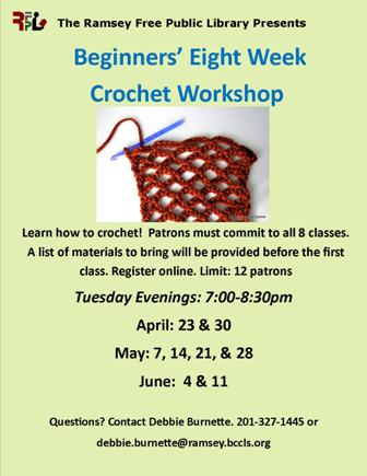 Beginners' Eight Week  Crochet Workshop