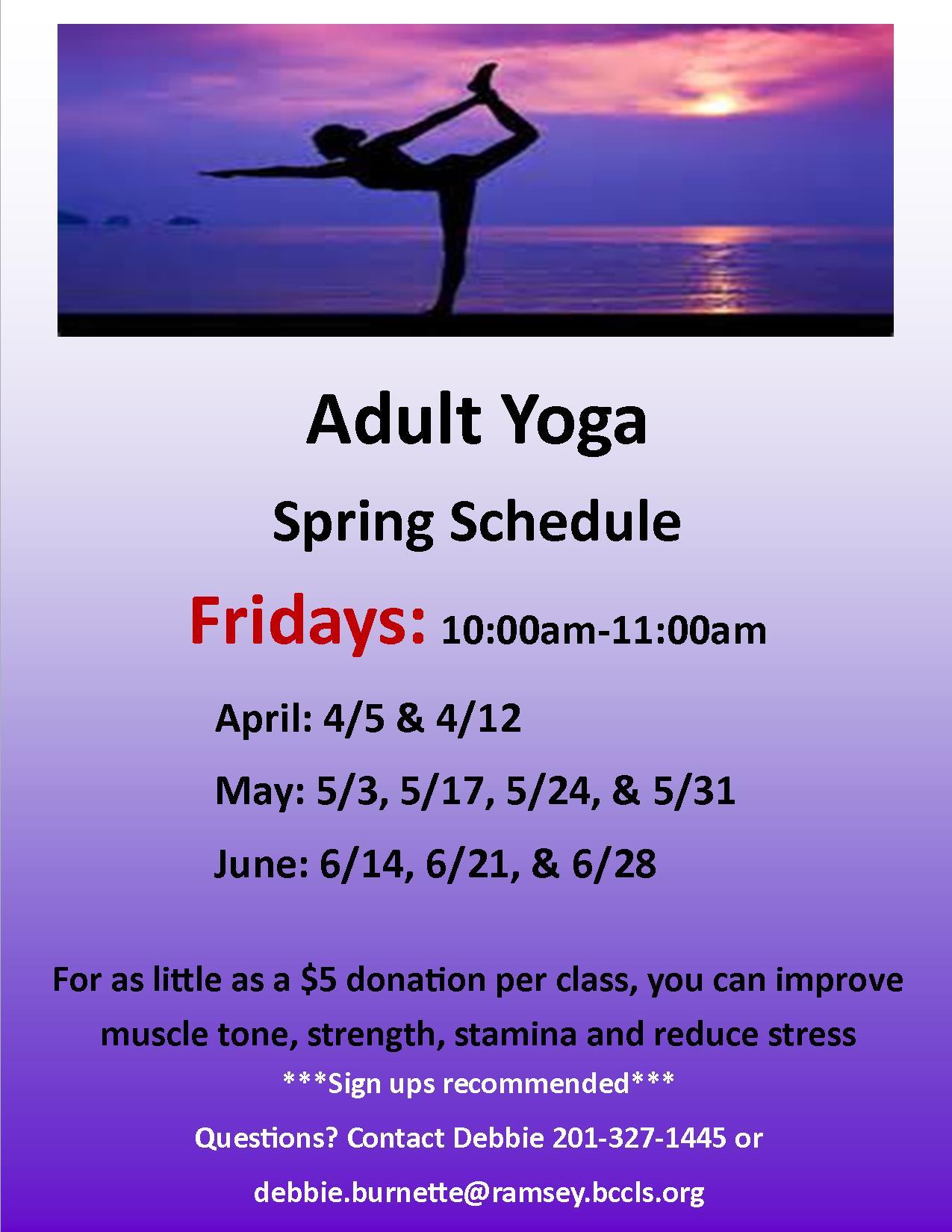 Friday Adult Yoga Classes