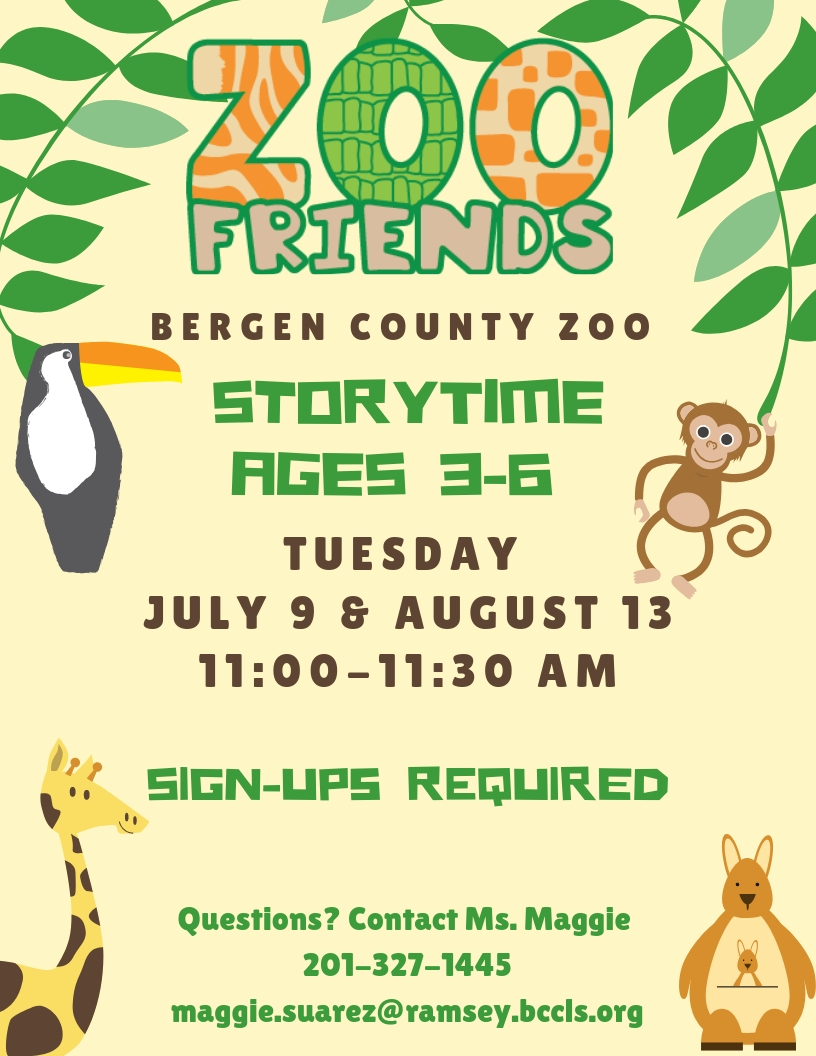 Zoo Friends Storytime