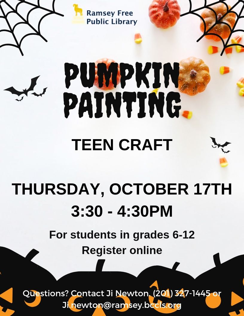 Teen Pumpkin Painting