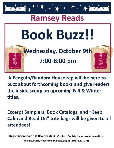 Ramsey Reads BOOK BUZZ!