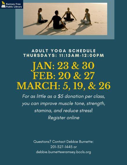 CANCELLED  Adult Thursday Yoga