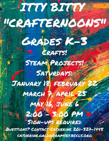 "Saturday ""Crafternoons"""