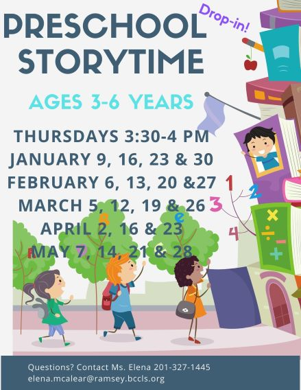 CANCELLED Preschool Story Time