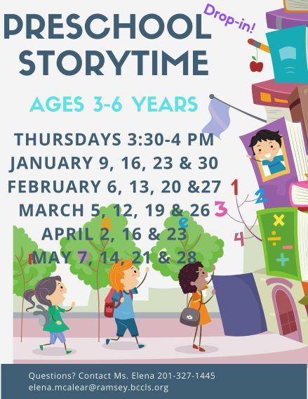 CANCELLEDPreschool Story Time