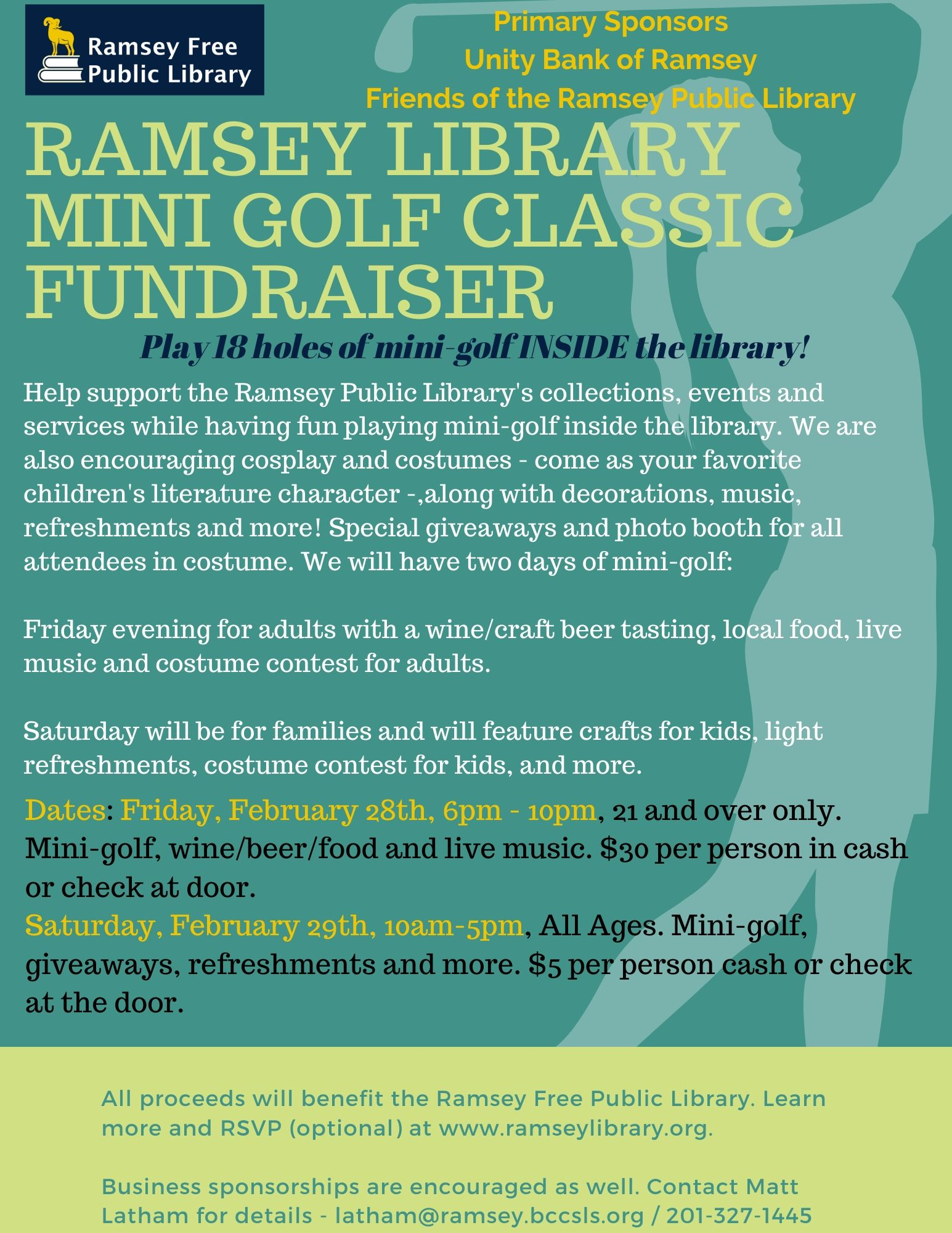 Mini-Golf Fundraiser and Wine/Beer Tasting for Adults