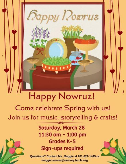 CANCELLED  Happy Nowruz