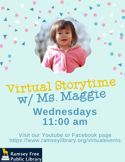 Virtual Storytime w Ms. Maggie