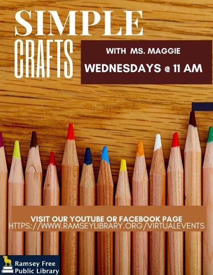 Virtual Craft w Ms. Maggie