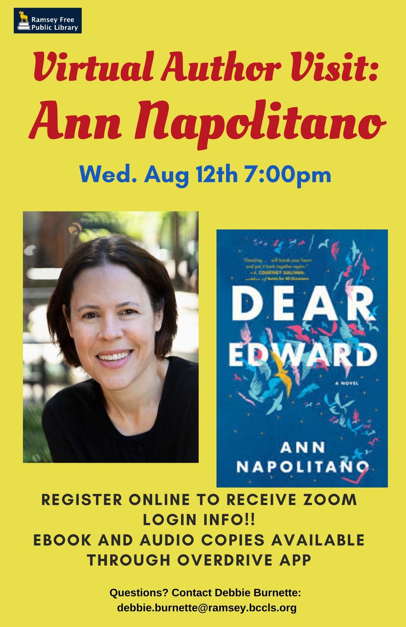 Virtual Author Visit Ann Napolitano