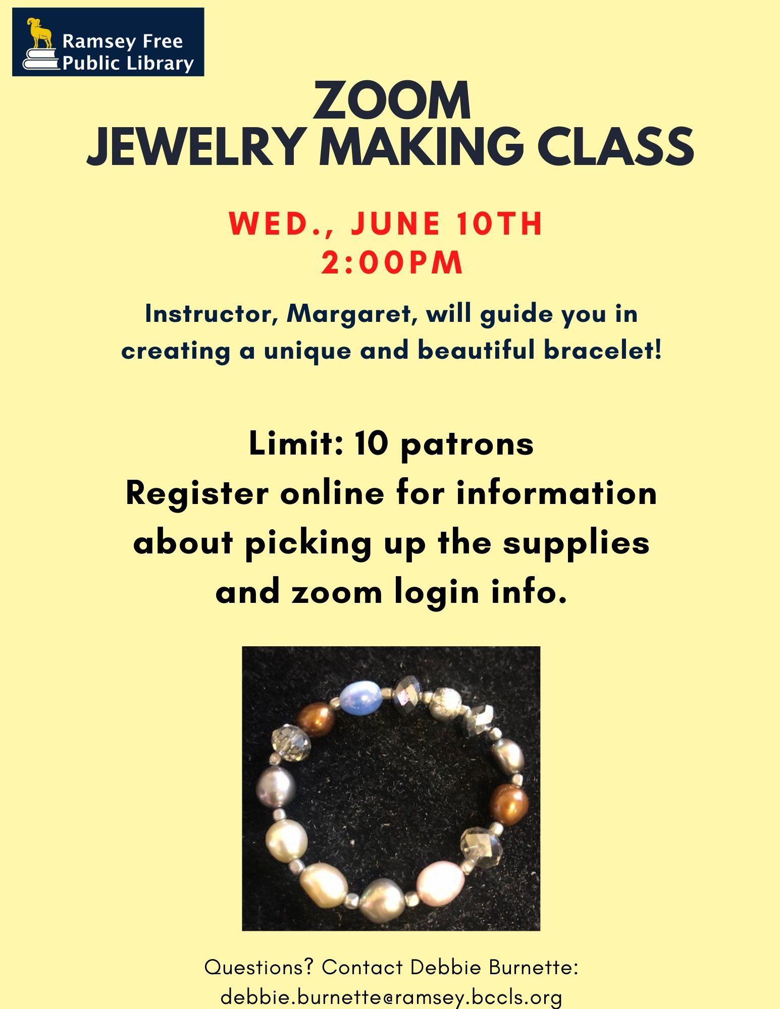 Zoom Jewelry Making Class