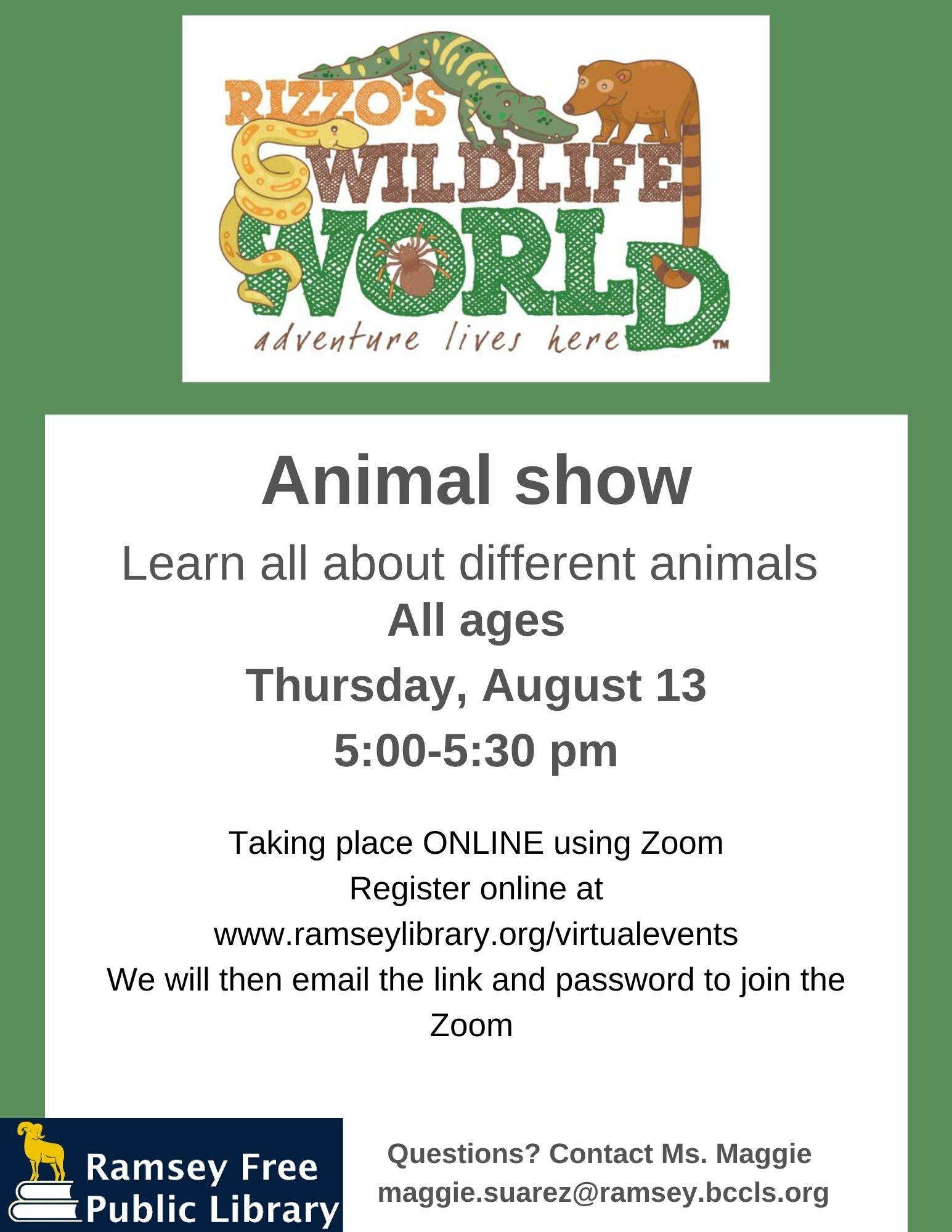 Summer 2020 Animal Show
