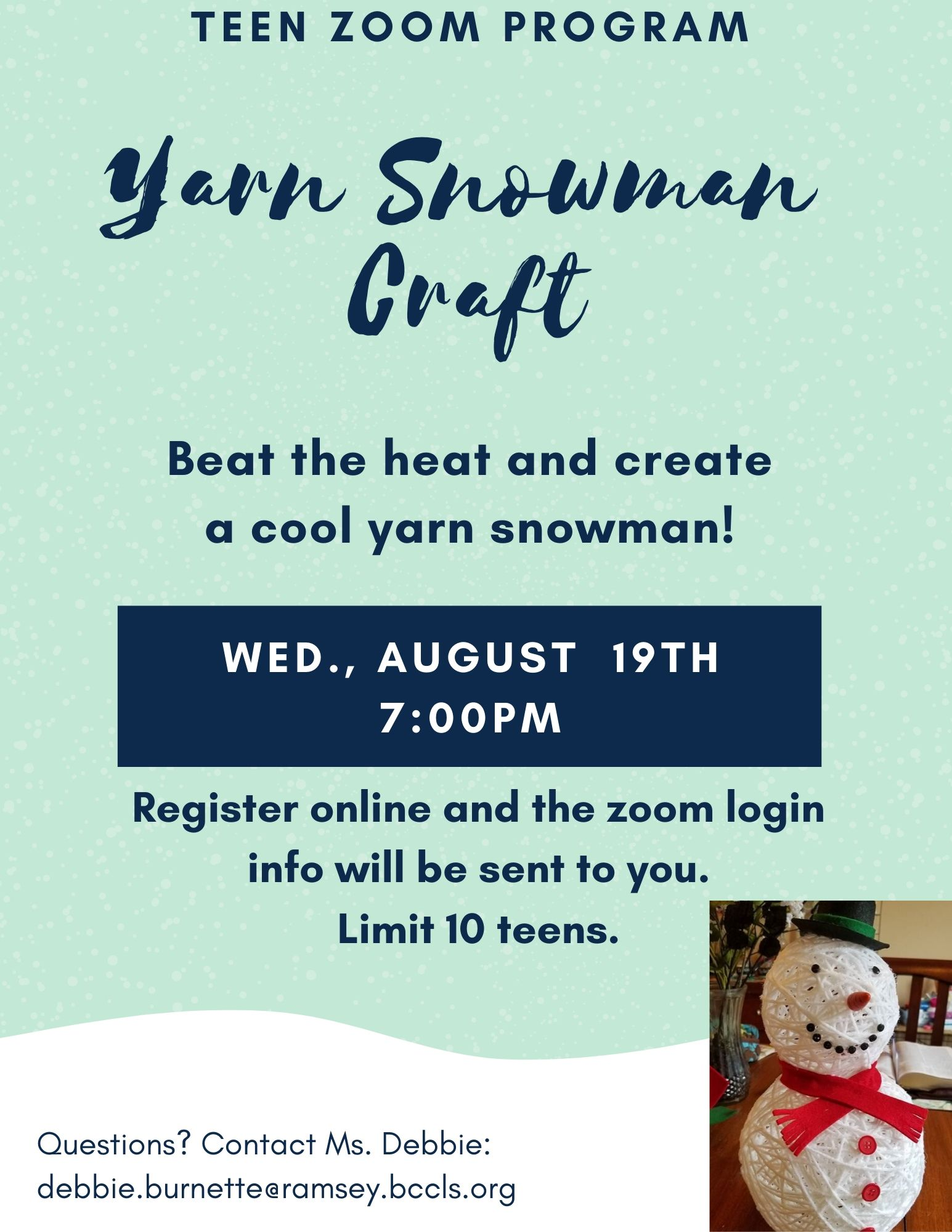 Teen Yarn Snowman Craft