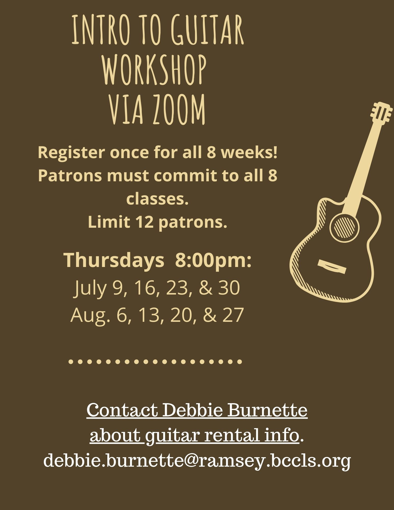 Intro to Guitar Workshop via Zoom
