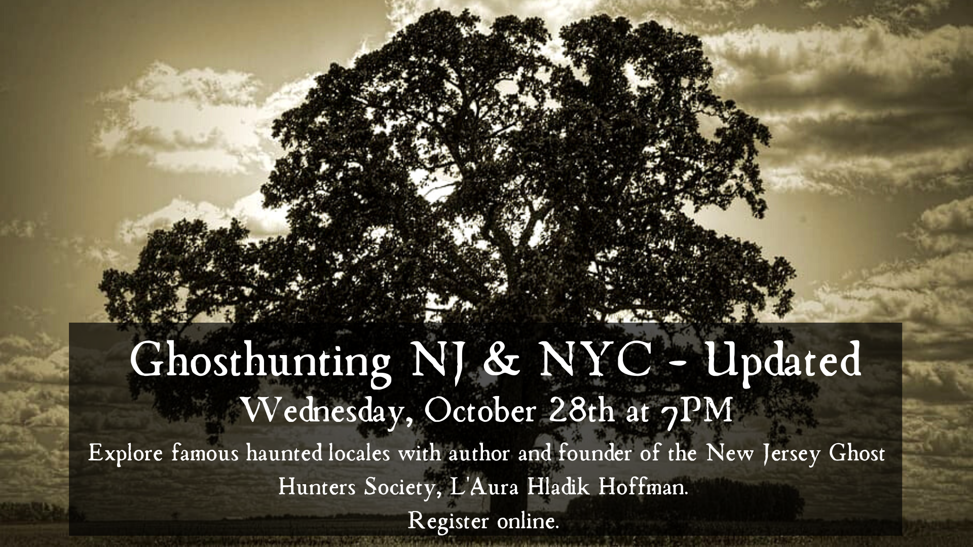 Virtual Ghosthunting NJ & NYC: Updated