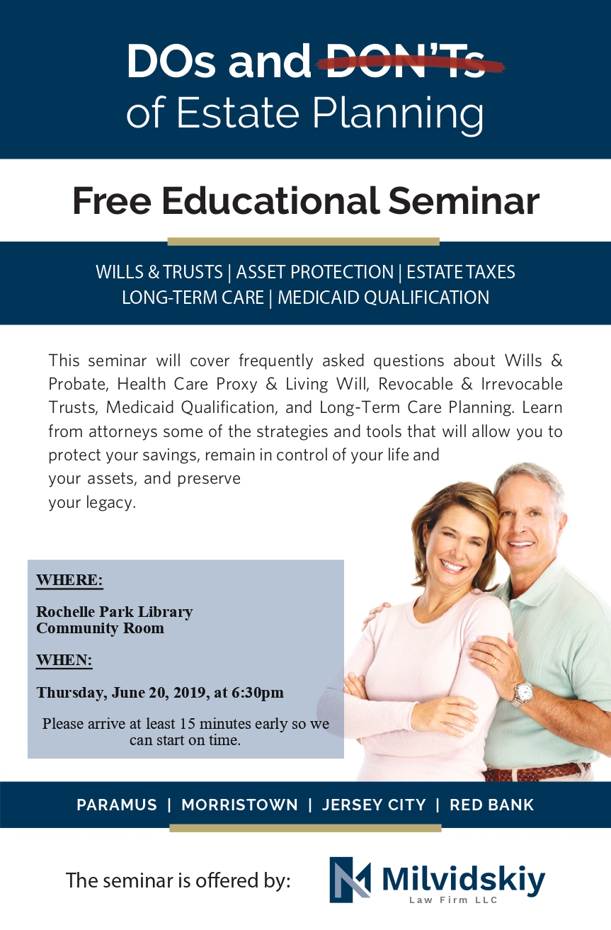CANCELLED - Free Estate Planning Seminar