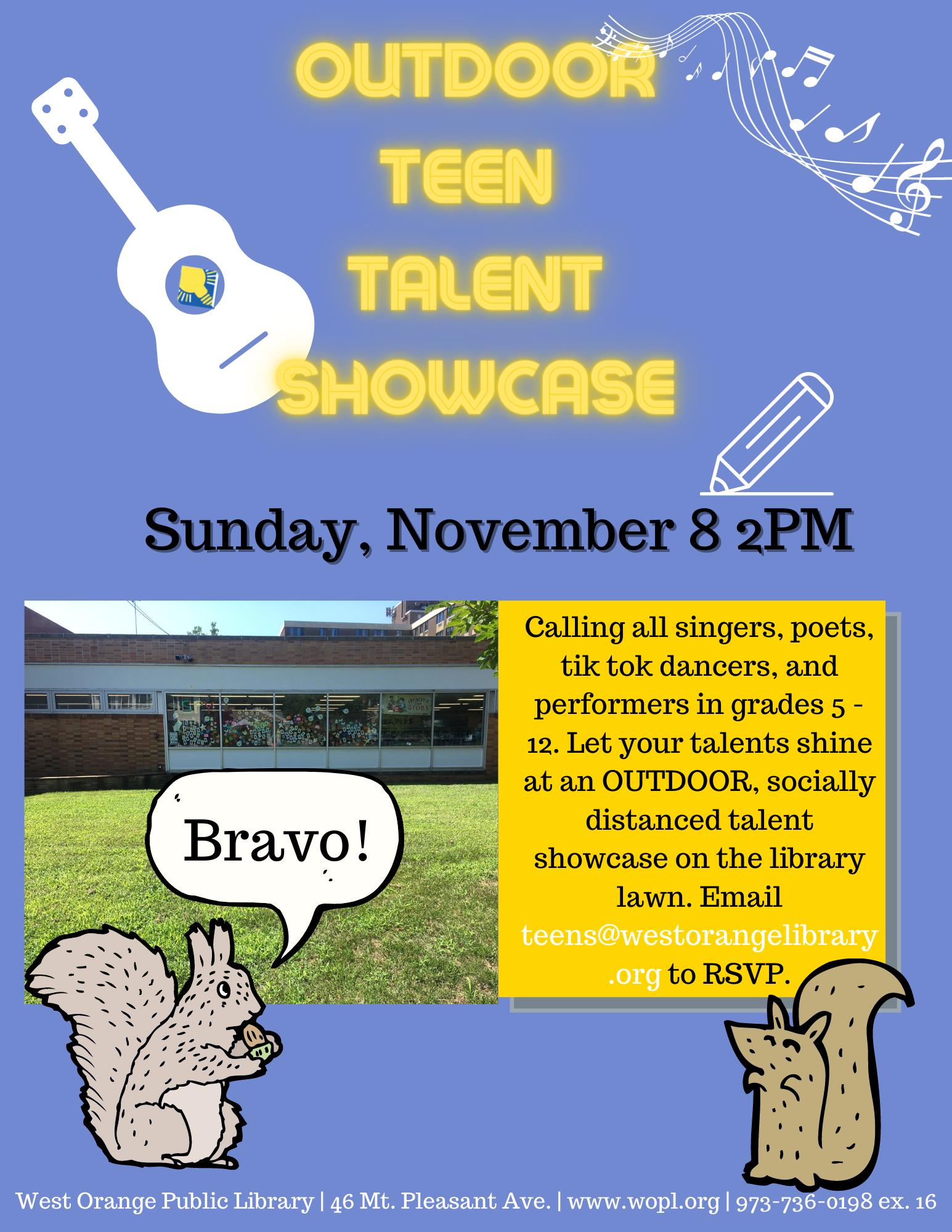 Outdoor Teen Talent Showcase