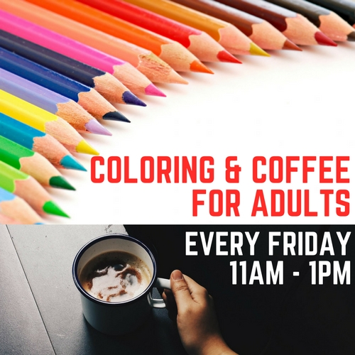 Coloring and Coffee for Adults