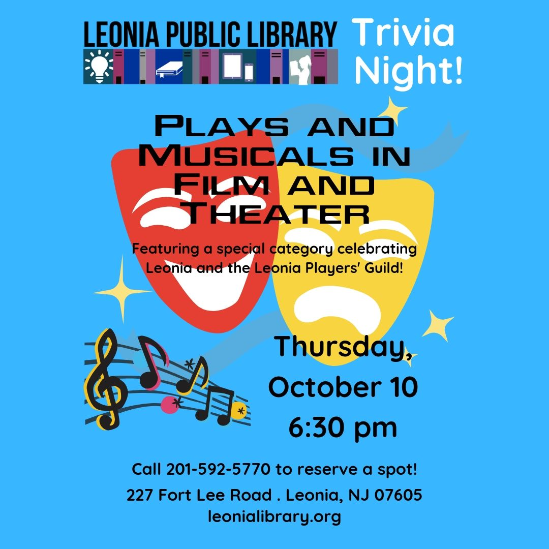 Trivia Night - Plays and Musicals in Film and Theater