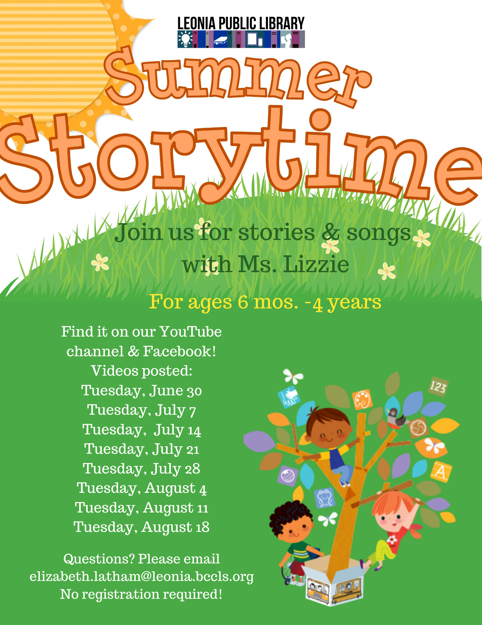 Virtual Summer Stories with Ms. Lizzie