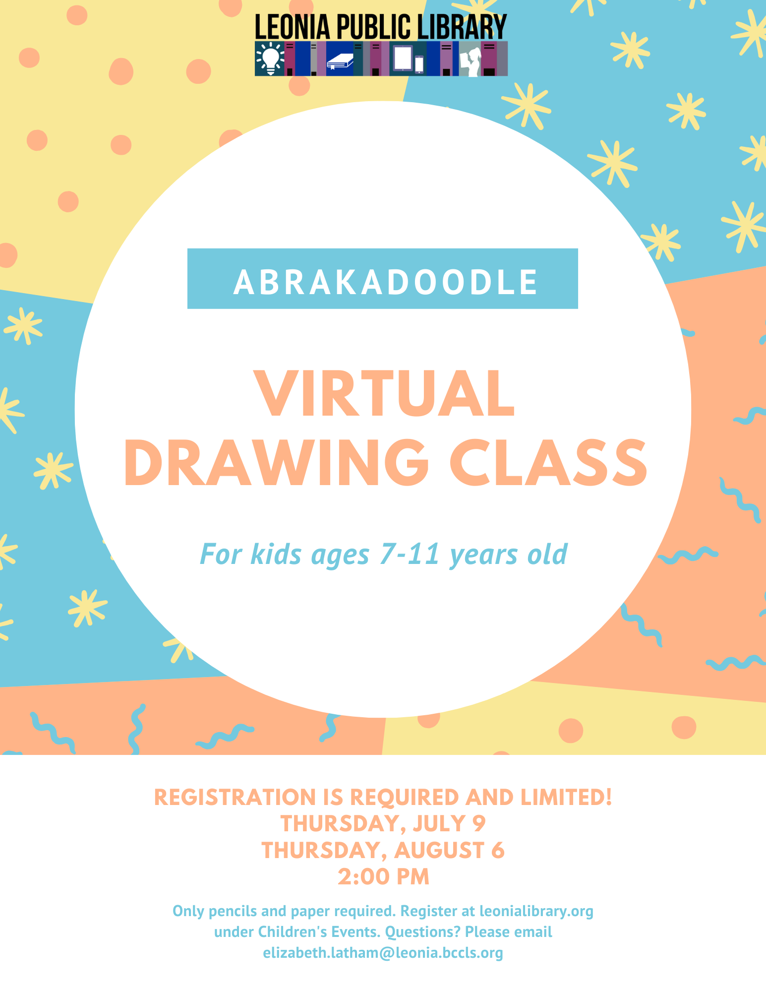 Virtual Drawing for Kids with Abrakadoodle - Ages 7 to 11