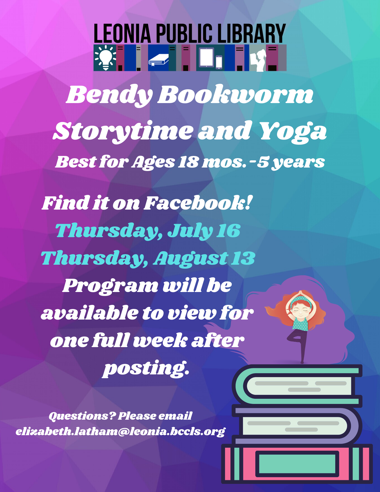 Bendy Bookworm - Storytime and Yoga for Kids!