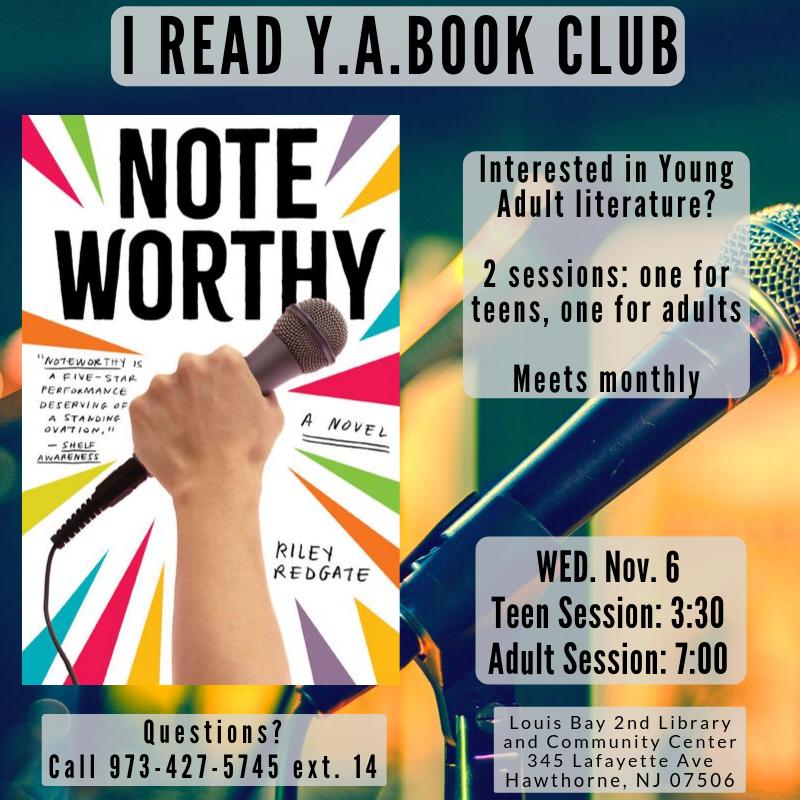 Book Club: I Read YA (Teen session)